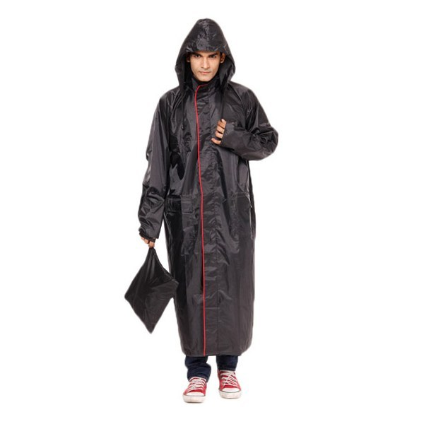 Duckback - Long Coat with Hood Rain Champ Men's Coat is a polyester raincoat for men for safety in rains and bad weather. These raincoats are long coats with a hood with a zipper at the center to securely fastening it. Duckback Long Coat with Hood Rain Champ Men's Coat provides complete protection from rain having a special inner tapping along with stitches for total water protection. The raincoat is available in different sizes from S/M/L/XL/XXL and different colours to cater to the choice of the user.
