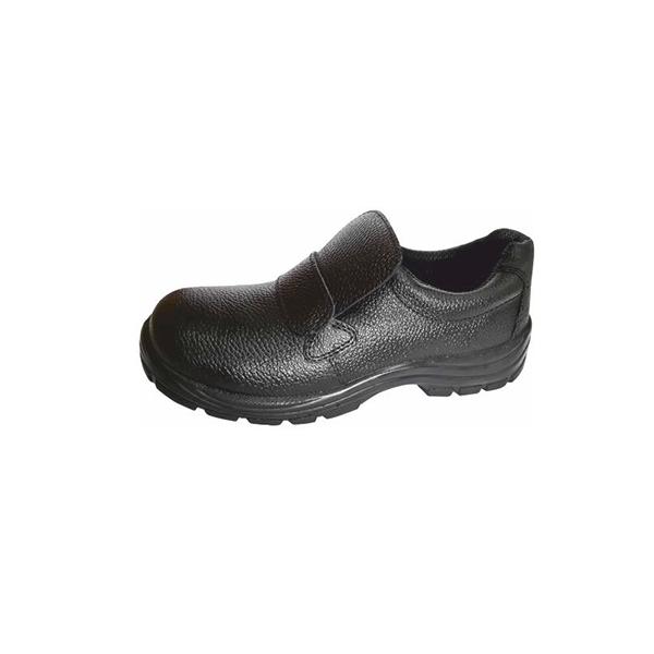 Black Steel Toe Safety Shoe