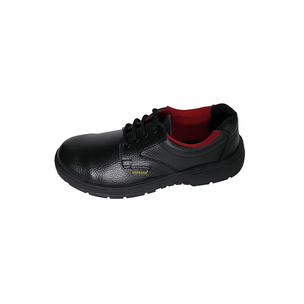 f7c94bf9fb0c39 Emperor Ace - Black Steel Toe Safety Shoe - ShakeDeal