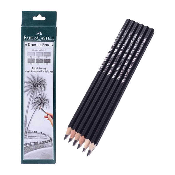 buy faber castell f5320628727006  graded 6 drawing pencil