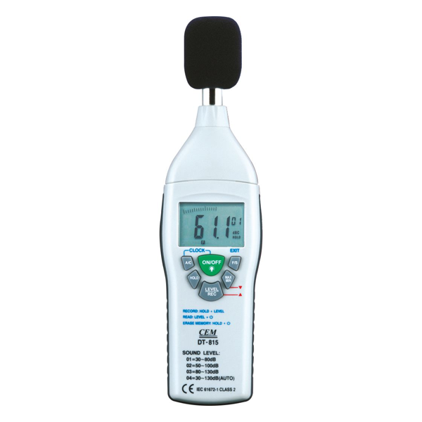 CEM DT 805L - 30 to 130 dB Digital Sound Level Meter