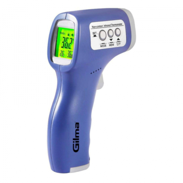 Gilma - 2 to 5 cm Non-Contact Infrared Thermometer is an essential tool for measuring body temperatures from a distance. This 2 to 5 cm Non-Contact Infrared Thermometer proves beneficial during these times of the pandemic where maintaining distance between individuals is crucial to keep everyone safe. One of the essential features of this Non-Contact Infrared Thermometer is the instant temperature check that it provides. The thermometer has an automatic cut-off feature, which removes any temperature reading after 15 seconds of use. The infrared thermometer is well-known for its rapid temperature readings and does not take more than 3 seconds to accurately read a person's temperature. The thermometer allows for auditory as well as visual readings and warnings of the temperature. Gilma - 2 to 5 cm Non-Contact Infrared Thermometer popular in the market is its lightweight, easy to carry and easy to use features. The 2 to 5 cm Non-Contact Infrared Thermometer manufactured by Gilma is widely used in offices, workspaces, homes, shops, malls, railway stations, and airports to perform a quick temperature check.