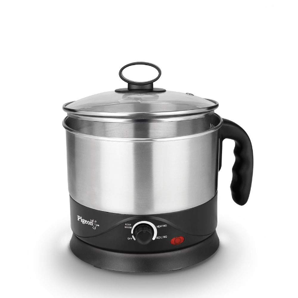 Cool touch handle and lid knob Temperature control. This 1.2 litters electric kettle comes with a hygienic concealed heating element which helps prevent calcification while its stainless steel and aluminium die cast body ensures durability. Can Meet Various Purpose like Boil Water, Milk, Tea, Coffee, Soup, Cook Noodles, Cook and Steam Eggs, Warm and Reheat Food, Hygienic Concealed Heating Element to Prevent Calcification with Stainless Steel and Aluminium Die Cast Body for Extreme Long Life, Mirror Finish Hygienic Stainless Steel Body with High-grade Flat Glass Lid, Transparent Glass Lid with Stainless Steel Rim, Easy to Clean Wide Mouth, Indication when Switched On.
