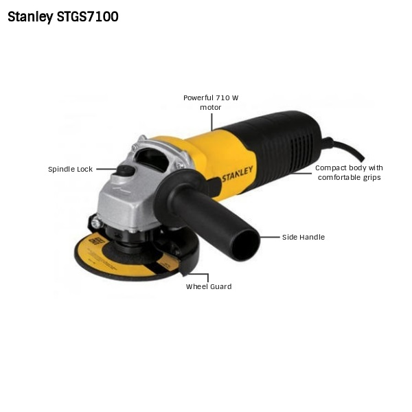 Stanley STGS7100 - 710W 100mm Small Angle Grinder
