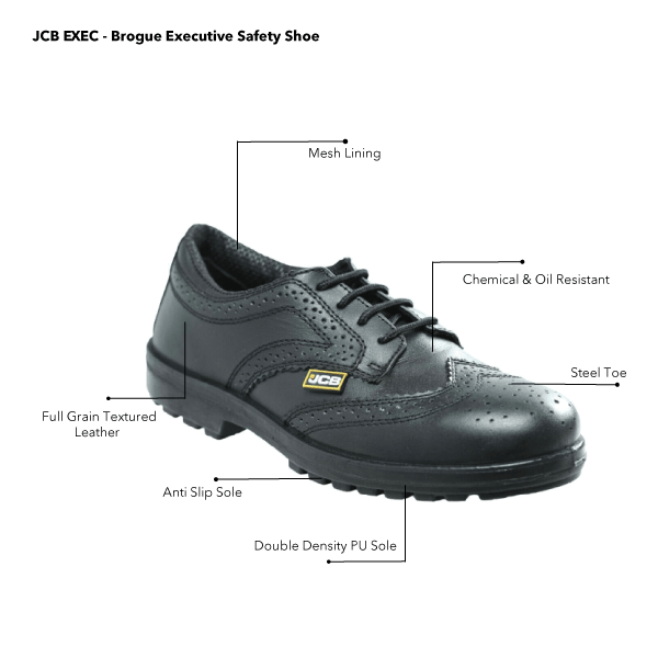 JCB EXEC - Brogue Executive Safety Shoe