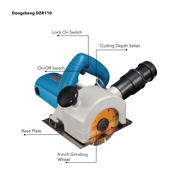 Dongcheng DZR110 - 110mm Wall Chaser