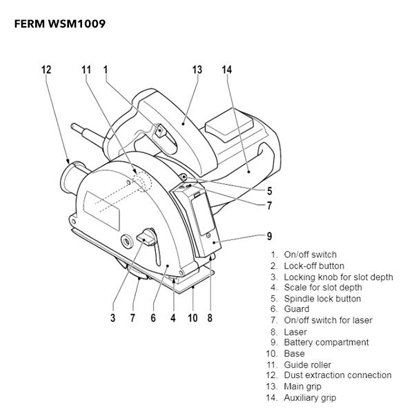 Ferm WSM1009 - 1700W Wall Slotter