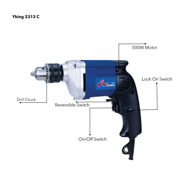 Yking 2313 C - 500W Drill Machine