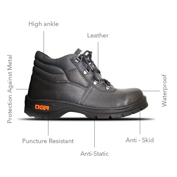 6765876a598 Buy Tiger - Leopard Grain Leather Safety Shoe at best price in India ...