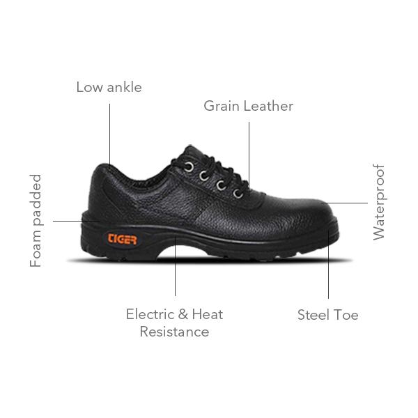 Tiger lorex steel toe safety shoe