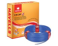 Havells WHFFDNBA16X0 - 6.0 sq mm Blue Life Line Plus S3 HRFR Cable