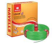 Havells WHFFDNGA1X75 - 0.75 sq mm Green Life Line Plus S3 HRFR Cable