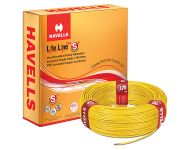 Havells WHFFDNYL12X5 - 2.5 sq mm Yellow Life Line Plus S3 HRFR Cable