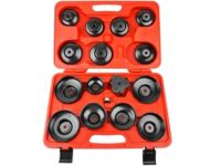 Dayton FW-1500 - 15 pieces Cup Type Oil Filter Wrench Set