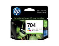 HP 704 - Tri Color Inkjet Cartridge