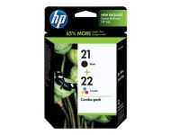 HP 21 & 22 Combo - Print Cartridge Tricolor