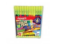 Luxor 976 W - Set of 12 Assorted Sketch Pens