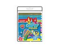 Luxor 1212 - Set of 12 Assorted Grippy Colour Pens