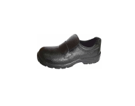 Emperor Slip On - Black Steel Toe Safety Shoe without Lace