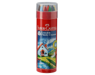 Faber Castell F1110203164014 - Erasable Crayon Tin with Gold And Silver
