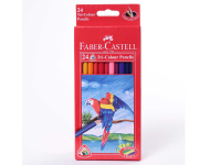 Faber Castell F1170248214024 - Pack of 24 Assorted Multicolour Pencils