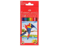 Faber Castell F1170248221012 - Pack of 12 Triangular Water Soluble Colour Pencils