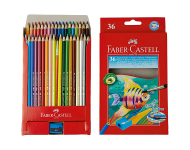 Faber Castell F1170248204036 - Pack of 36 Water Soluble Colour Pencils