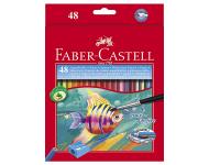 Faber Castell F1170248284001 - RL Watercolour Pencil 48 Long Tin Case Fish Design