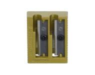 Staedtler 510 20 PR1 - Gold Colour Heavy Metal Double Hole Sharpener