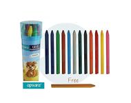 Apsara - 12 Colour Plastic Crayon