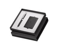 Sheaffer A 2880 - Matte Black Pennline Mercules Ballpoint Pen with Business Card Holder