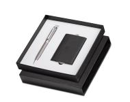 Sheaffer A 2881 - Matte Grey Pennline Mercules Ballpoint Pen with Business Card Holder