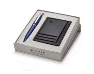 Sheaffer A 9401 - Blue Gift Set Card Holder with Ball Pen