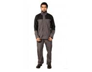 Mallcom Arcus - Grey and Black Breathable PU Raincoat
