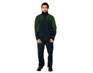 Mallcom Arcus - Navy and Green Breathable PU Raincoat