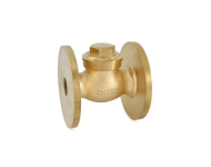 Zoloto 1014 - 15 mm Number 9 Bronze Flanged Horizontal Check Valve