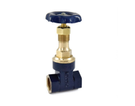 Zoloto 1035B - 80 mm Bronze Screwed Gate Valve with Rising Stem