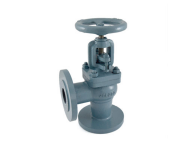 Zoloto 1066 - 25 mm Cast Iron Flanged Globe Steam Angle Pattern Stop Valve