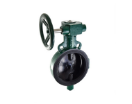 Zoloto 1078A - 300 mm Wafer Type, Butterfly Valve with S G Iron Disc Gear Operated