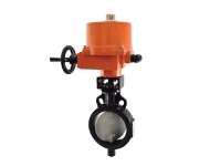 Zoloto 1078F - 200 mm Wafer Type, Butterfly Valve with Electrical Actuator