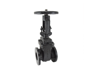 Zoloto 1079C - 125 mm Cast Iron Flanged Sluice Valve PN 1 with Rising Stem