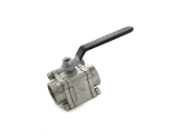 Zoloto 1080A - 40 mm Class 150 Stainless Steel Three Piece Design Screwed Ball Valve