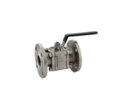 Zoloto 1080B - 40 mm Class 150 Stainless Steel Three Piece Design Flanged Ball Valve