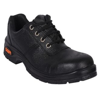 The Tiger safety shoes by Mallcom (India) Ltd. are safety shoes for use in industrial spaces, construction sites or work floors in the aviation, petrochemical, logistics, shipping, automobile, warehousing and other industries. The Tiger Lorex grain leather safety shoe is a low-ankle model. These industrial safety shoes have an upper made of grain leather with synthetic Cambrella lining. The lightweight shoe has an energy-absorbent heel with moulded (Ethylene Vinyl Acetate) EVA footbed. The Tiger Lorex shoes have black-coloured single density injected polyurethane (PU) sole. The tongue and collar of the shoes are also PU coated. The toe cap is steel for impact resistance. The insole and insert are made of nonwoven materials. These Tiger safety shoes provide bump, friction, impact, penetration and slip resistance.