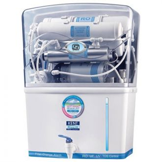 Double Purification by RO, UF, UV with TDS controller. Removes even Dissolved Impurities while retaining Essential minerals. Purified water storage capacity of 8 litres with water level indicator. Equally suitable for water from all sources such as bore-wells, tanks or tap water. Inbuilt Auto Flushing system. Fully automatic operation with auto start and auto off. Spin welded RO membrane housing that prevents tampering. Elegant wall mountable design.