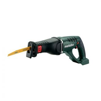 The Metabo ASE 18 LTX is a 30 mm Cordless Sabre Saw that is a slim, lightweight and compact Cordless Tool with a soft-grip handle for ease-of-use in multiple working positions. The Metabo 30 mm Cordless Sabre Saw has Variospeed Electronics that allows for customized strokes. The Metabo ASE 18 LTX is a 30 mm Cordless Sabre Saw that has battery packs with capacity displays that show the charging status of the device. The Metabo ASE 18 LTX has Ultra-M technology and boasts of a very high performance. The Metabo ASE 18 LTX is a 30 mm Cordless Sabre Saw is a cordless tool with gentle charging and Metabo Quick that makes it easy to change saw blades without tools.