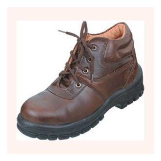 Dark Brown Steel Toe Cap Safety Shoe