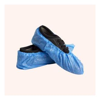 High Tech 2003 - Safety Disposable Shoe Cover - It is mostly made up of SBPP Polypropylene. Its low linting non woven fabric helps to filter out particulates for contamination control. It has non-skid soles for greater traction and improved safety. It has an elastic band for offering a secure and comfortable fitting around the shoes. It can be disposed of after one use. It is suitable for laboratories, light industrial use, and manufacturing environments.