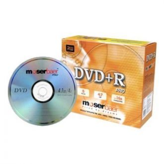 Moserbaer - 16X Dvd-R 4.7Gb Blank Dvd Jewel Case