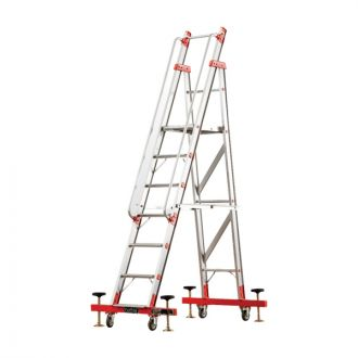 Bathla DS 3004 - 1.22 meter Deluxe Self Supporting Ladders with Wheels